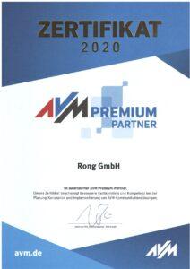 Rong GmbH ist AVM Premiumpartner